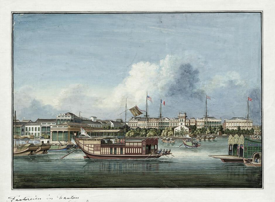 Guangzhou's (Canton) harbor in 1850